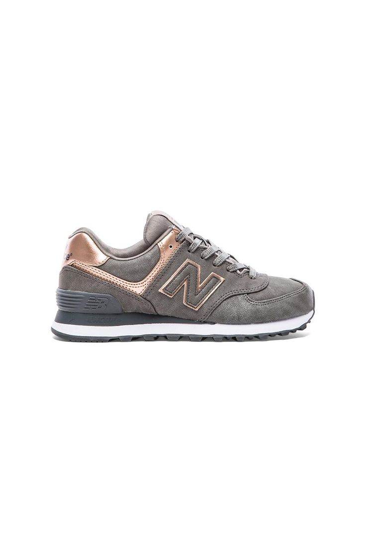 my wish list sometime in the spring  --------  New Balance 574 Precious Metals Collection Sneaker in Silver   REVOLVE
