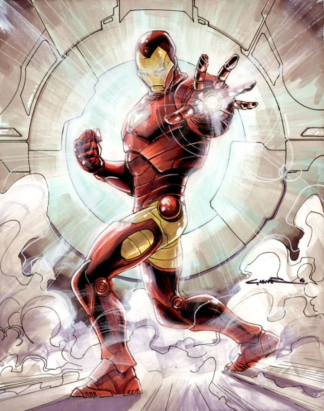 Iron Man by Yildiray Cinar, in PaulDowney's Iron Man Comic Art Gallery Room - 684414