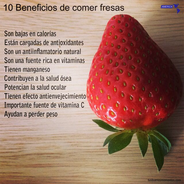 Beneficio de las fresas