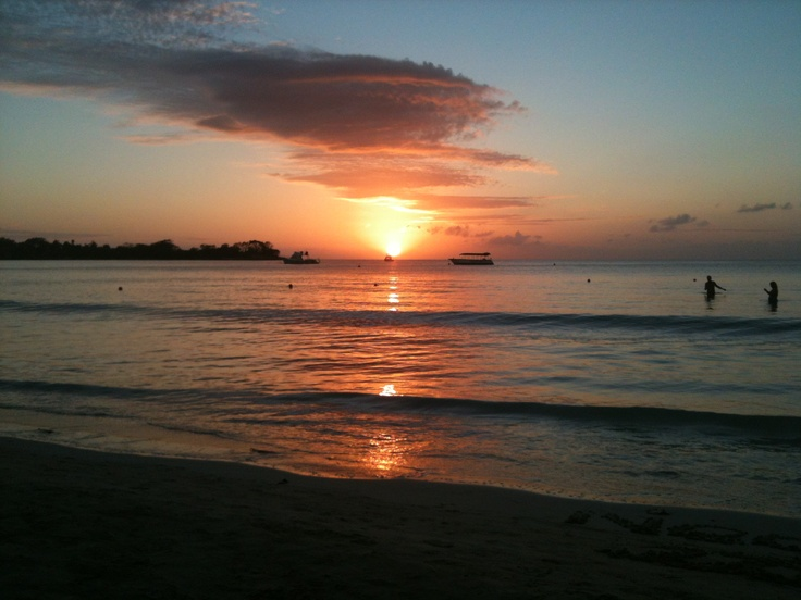 Sunset in Negril, February 2013