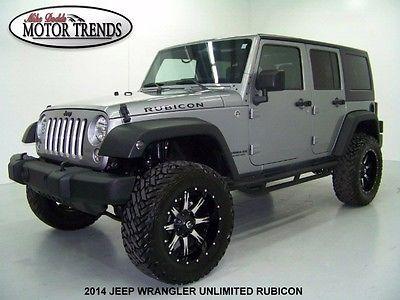 Jeep : Wrangler Unlimited Rubicon Sport Utility 4-Door 2014 jeep wrangler unlimited rubicon hardtop custom lift kit fuel wheels nav 25 k