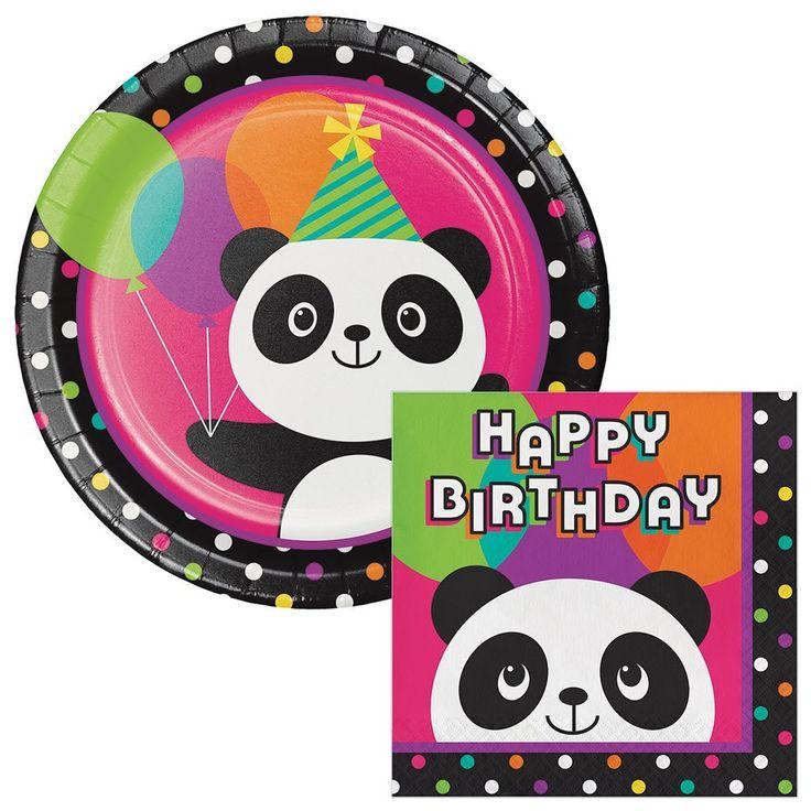 Amazon.com: Panda-Monium Birthday Lunch Plates & Napkins Party Kit for 8: http://amzn.to/2vAH279
