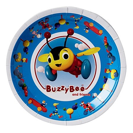 Buzzy Bee Party Plates 8 Pack