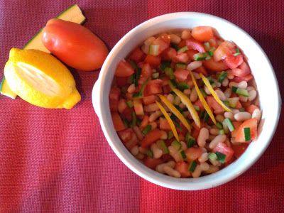 Pasticciando: Insalata di cannellini con pomodori e zucchine al ...
