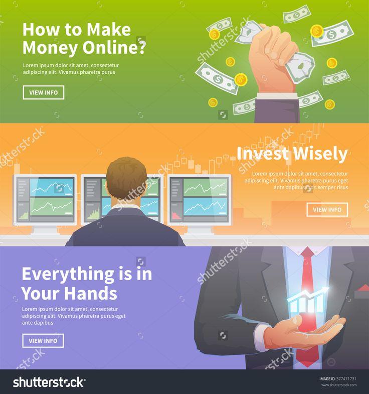 Multicolor Stock Exchange Trading Set Of Web Banners. Equity Market. World Economy Major Trends. Modern Flat Design. Make Money. Invest Wisely. Everything Is In Your Hands. Стоковая векторная иллюстрация 377471731 : Shutterstock