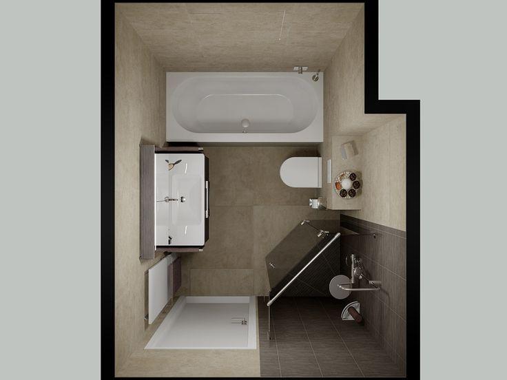 Badkamer Bosschenhoofd is een perfect voorbeeld van hoe een leidingkoof in het badkamerontwerp kan worden opgenomen.