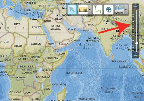 MapMaker interactive - can mark up map, study terrain, etc