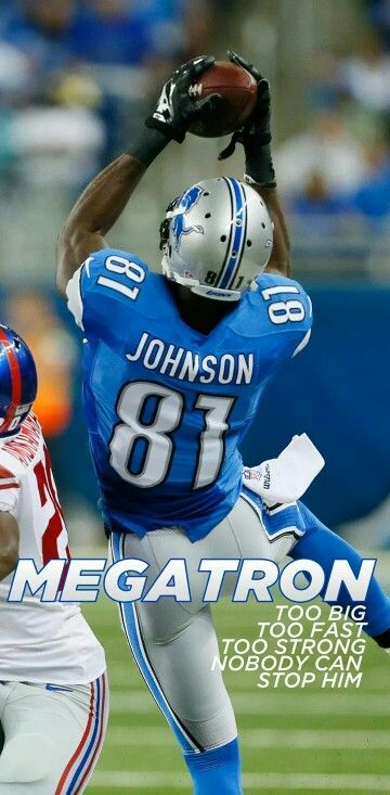 Calvin Johnson One of best wide receivers in the NFL!