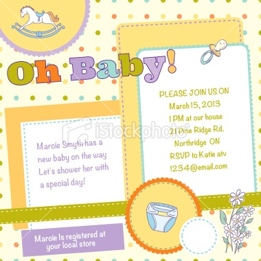33 best Kids Party Invites and Baby Shower Invitations images on - Free Baby Invitation Templates