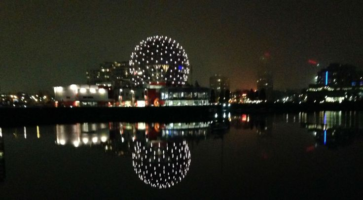 False Creek at night - (photo by Gillian)  Vancouver: No Fixed address is documentary by Charles Wilkinson #housingcrisisVancouver