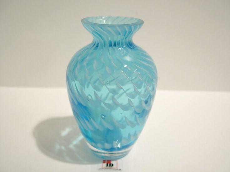 Mundblæst Glas Vase - Klar/Lyseblå - 10cm - Ibsen Design