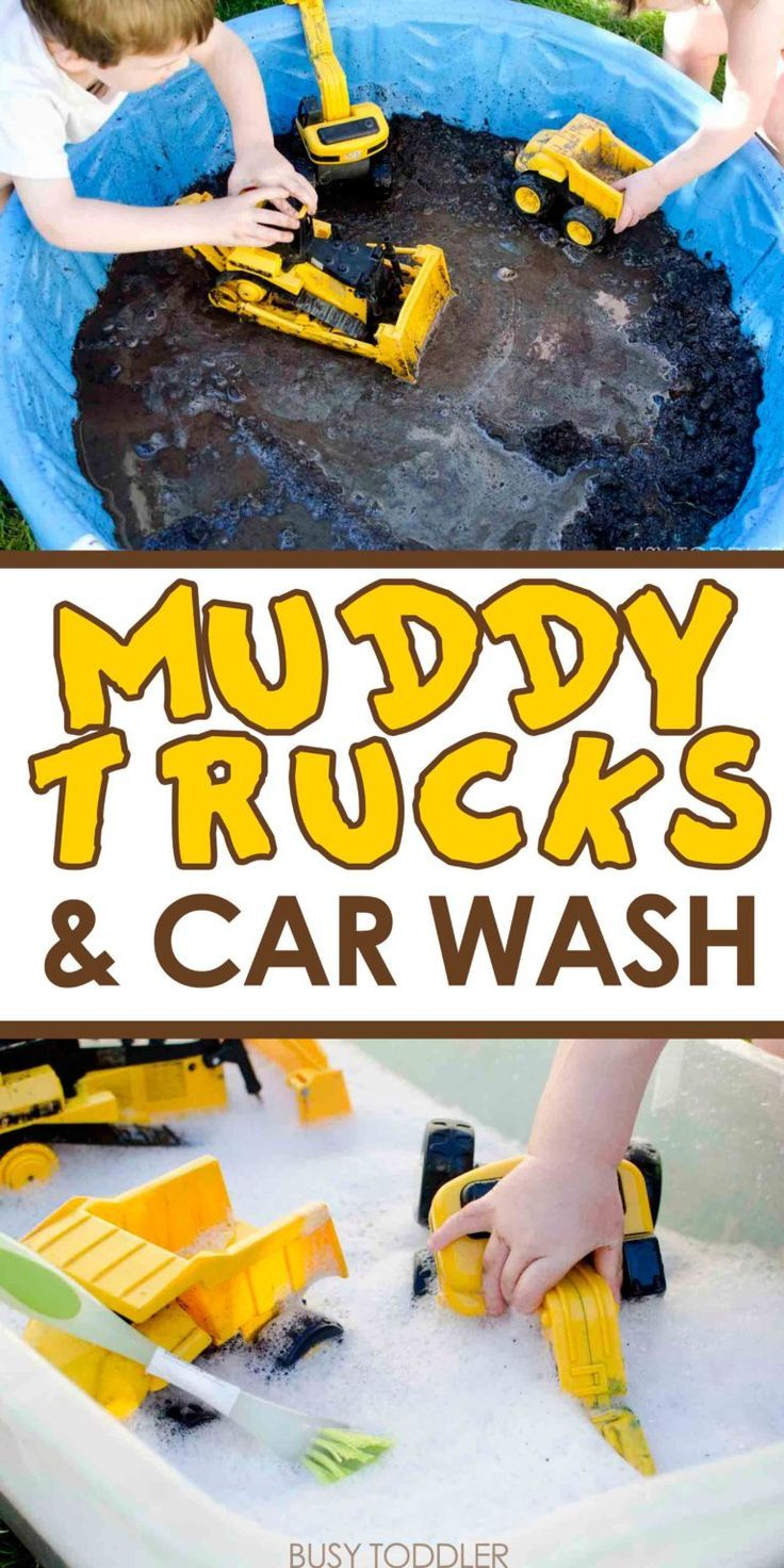 Schlammige Lastwagen und Autowäsche – Pre-K Preschool Activities