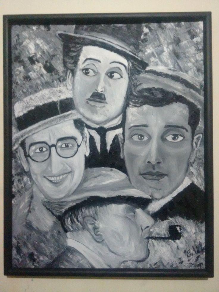 Charles Chaplin, Buster Keaton,  Jaques Tati, harold lloyd