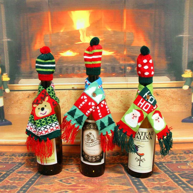Christmas Red Wine Champagne Bottle Covers Bag New Year Christmas Decorations Ornament Free Shipping #>=#>=#>=#>=#> Click on the pin to check out discount price, color, size, shipping, etc. Save and like it!