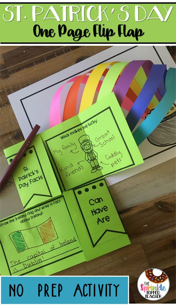 Easy No Prep Activity For St Patrick S Day Includes Easy Rainbow Craft Study Leprechauns Ireland Lu Writing Activities 2nd Grade Activities Writing Crafts [ 1271 x 736 Pixel ]