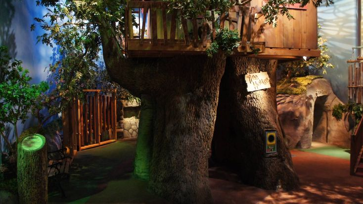 Barney's Backyard indoor playground features this tree ...