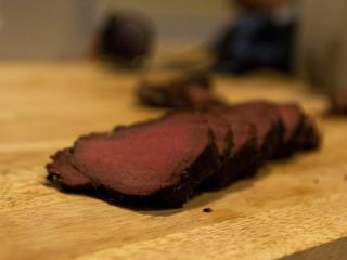 Smoked Venison  I was proclaimed the best cook ever after much doubtful complaining.