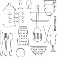 För anslagstavlan i köket? Tapet space cuisine från Rusta