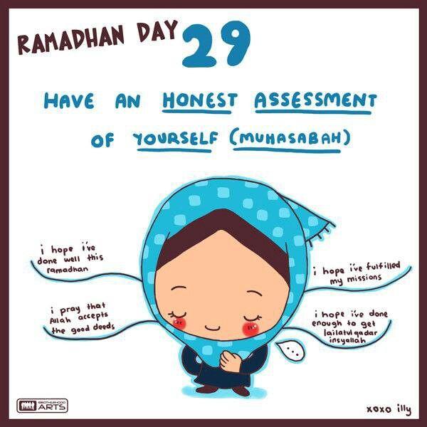Ramadan cartoon reminders by Illy, member of brotherhood arts - http://www.brotherhoodarts.com