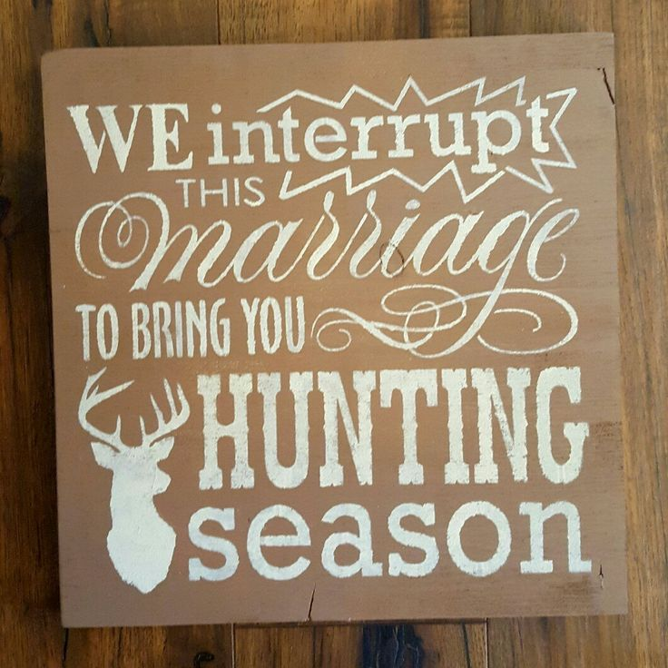 Free shipping! Get this fun wood sign for hunting season!