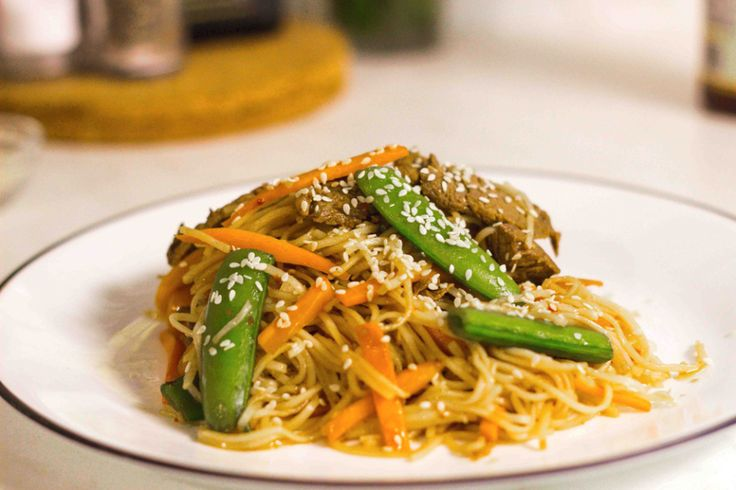 Sesame Snap Pea Stir-fry With Beef