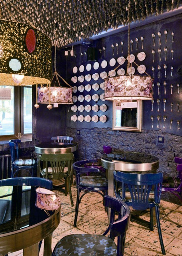 fantastic atmosphere of purple cafe - Purple Cafe Ideas