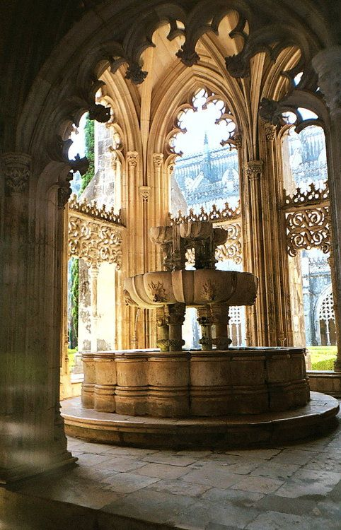 Batalha's Monastery, Portugal; if I'm not mistaken this was also the girls bathroom in Harry Potter where Moaning Merle could be found.