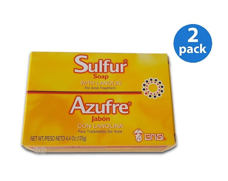 2 Pack SULFUR Soap W/ Lanolin For ACNE Treatment Grisi Jabon Para Acne * This is an Amazon Affiliate link. You can get additional details at the image link.