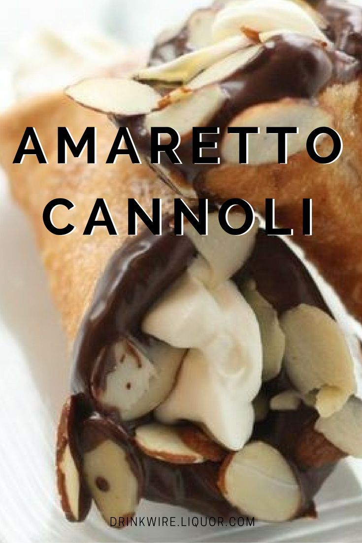 Boozy Amaretto Cannoli Are Your Dream Dessert! Make these two-bite treats from the Boston cannoli king, Mike's Pastry.