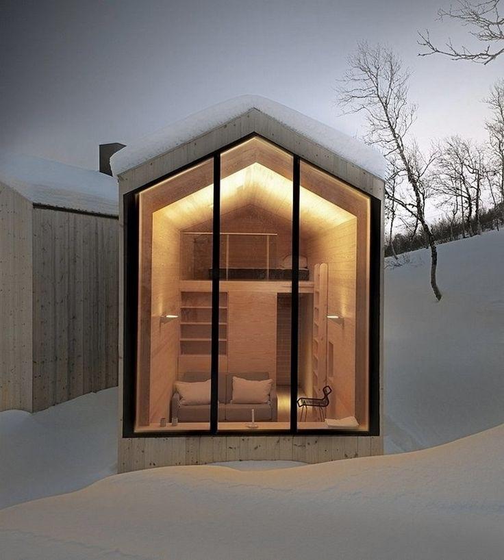 Современный горный дом  для четырех человек  расположился недалеко от деревни Geilo — популярного лыжного курорта в Норвегии.