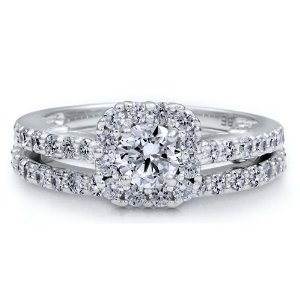 WOWWW this is my favorite!!: Wedding Ring, Nickel Free, 925 Round, 2Pcs Rings, Cubic Zirconia, Free Engagement, Sterling Silver Rings, Bridal Sets, Engagement Rings