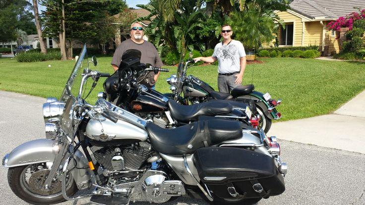 Charlie and John Sunday bike ride.
