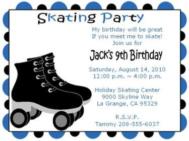 image about Free Printable Skating Party Invitations known as Skating get together invitations