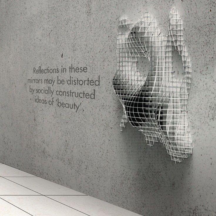 #architecture #wall #surface #installation #parametric #design #waffle #pattern…