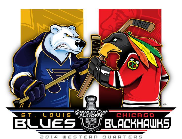 2014 NHL Playoffs Rd 1 Blues vs. Blackhawks by Epoole88