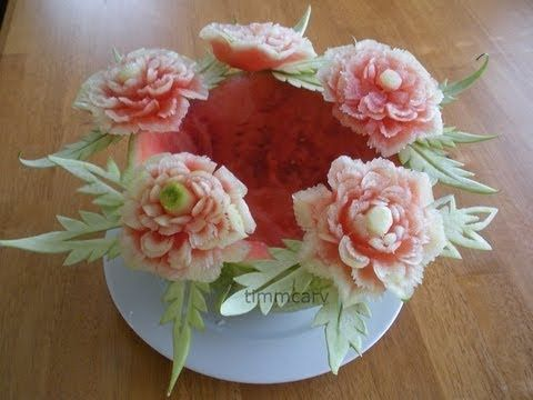 Art of Fruit and Vegetable Carving Part 23