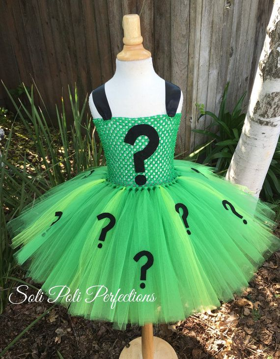 Hey, I found this really awesome Etsy listing at https://www.etsy.com/listing/245479726/the-riddler-inspired-tutu-dress-costume