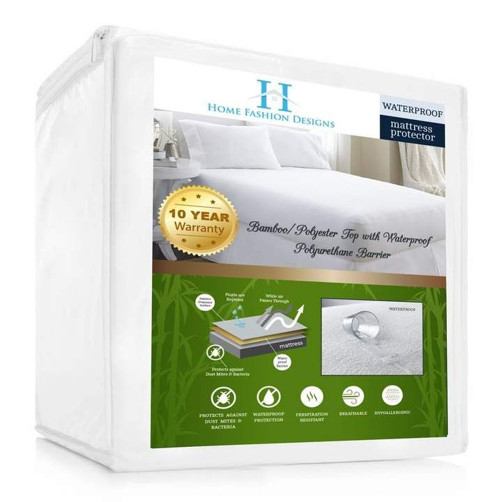 Home Fashion Designs Aleena Deep Pocket Fitted Hypoallergenic Waterproof Mattress Cover Mattress Protector Mattress Covers Mattress