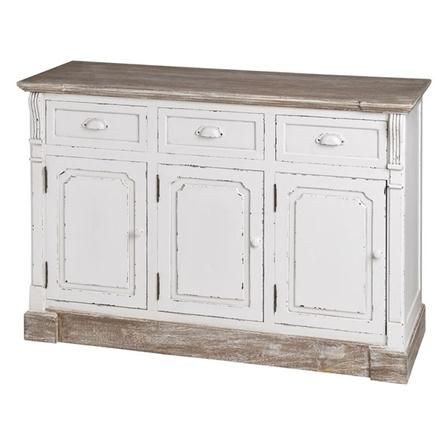 New England Hall Unit, Vintage White: Chic Sideboard, Distressed Sideboard, Hands 120, Products