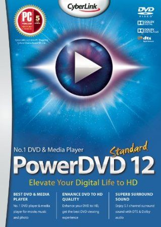PowerDVD 12 Standard [Download]  PowerDVD 12 Standard is much more than just a movie player – it's the perfect universal media player for all your entertainment needs. Play DVD movie, video & music files or view photos stored locally or from Social Media sites. With TrueTheater technology, you can enhance & upscale your DVDs, videos or YouTube/Facebook videos to best HD quality.