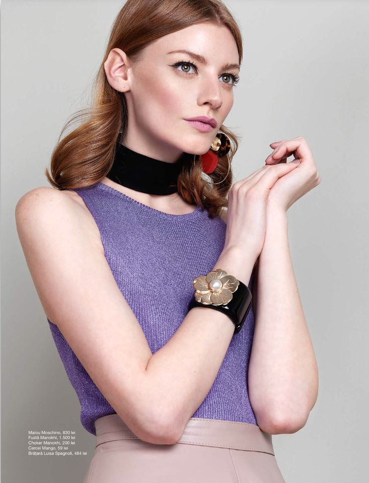 Our black suede leather choker was featured in the April issue of Unica Magazine