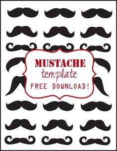 best 10 mustache template ideas on pinterest moustache or