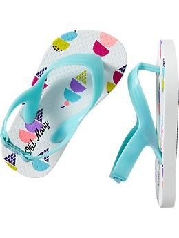 Patterned Flip-Flops for Baby | Old Navy