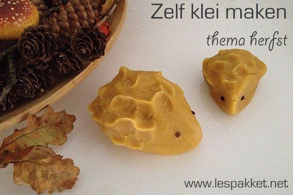 zelf klei maken herfst (en kleuren met natuurlijke kleurstoffen uit je keukenkastje!) - JufBianca
