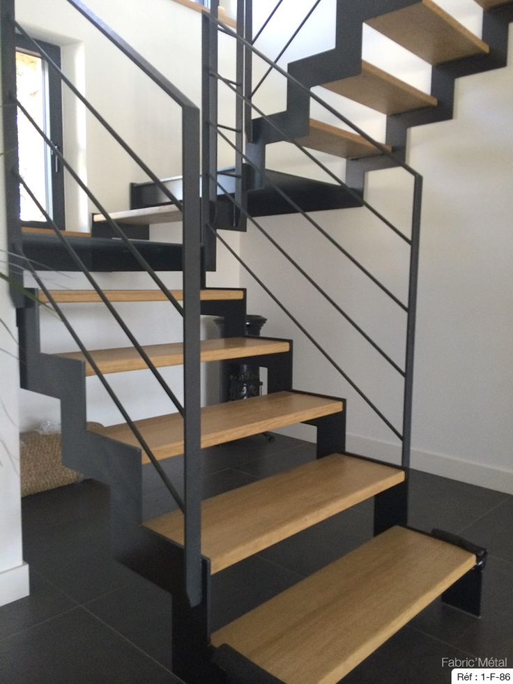acier naturel et marche bois escalier bois moderne escalier 2 4