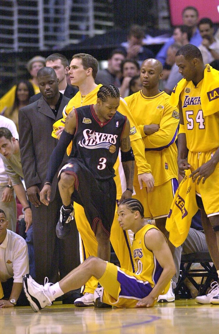 "Game 1, 2001 NBA Finals: the cross, the stepback, the shot, then the ""you cant f....n guard me MOTHERF....R"" stepover. A.I. gave Lue the BUSINESS in this game"