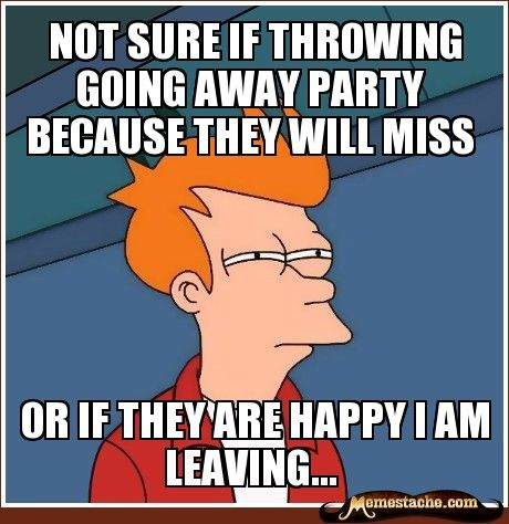 Futurama Fry Not Sure If Throwing Going Away Party Because They