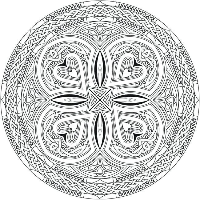 Celtic Designs Coloring Pages Creative Haven Mandalas Coloring