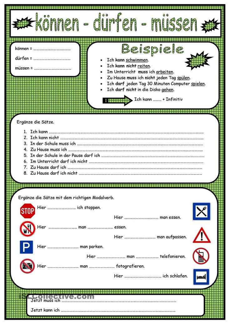 German worksheets for class 7