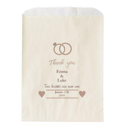 Rose Gold Glitter Modern Wedding Favor Bag - glitter glamour brilliance sparkle design idea diy elegant